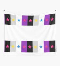 Panromantic Stars Asexual Flag Stripes Asexual T-Shirt Wall Tapestry