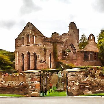 Greyabbey Abbey, Ireland. (Painting) by cmphotographs