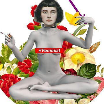 Joan of Arc Feminist Collage by underscorepound