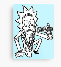 Rick Sanchez from Rick and Morty™ Getting Schwifty Metal Print