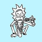 Rick Sanchez from Rick and Morty™ Getting Schwifty by sketchNkustom