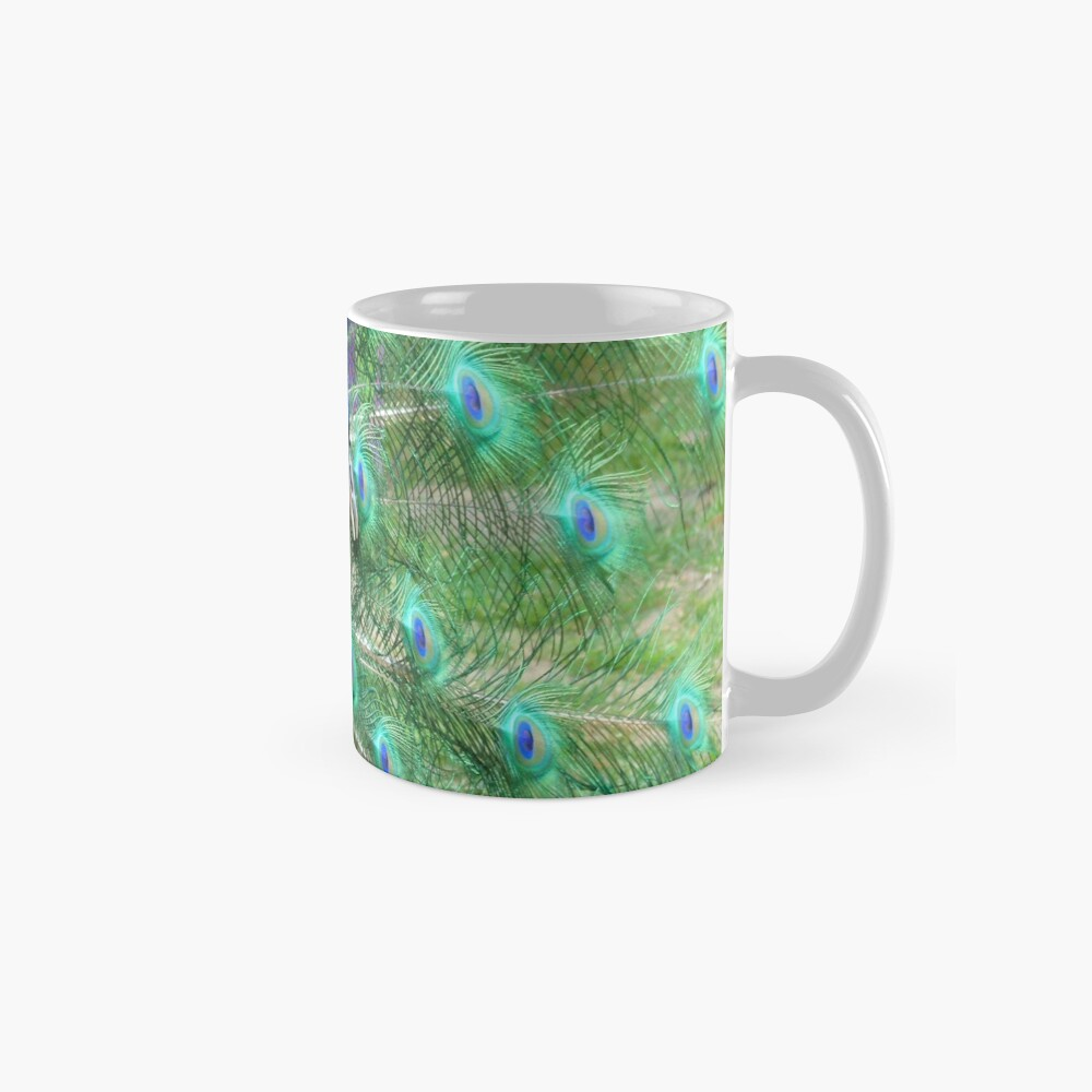 Peacock in bloom Mug