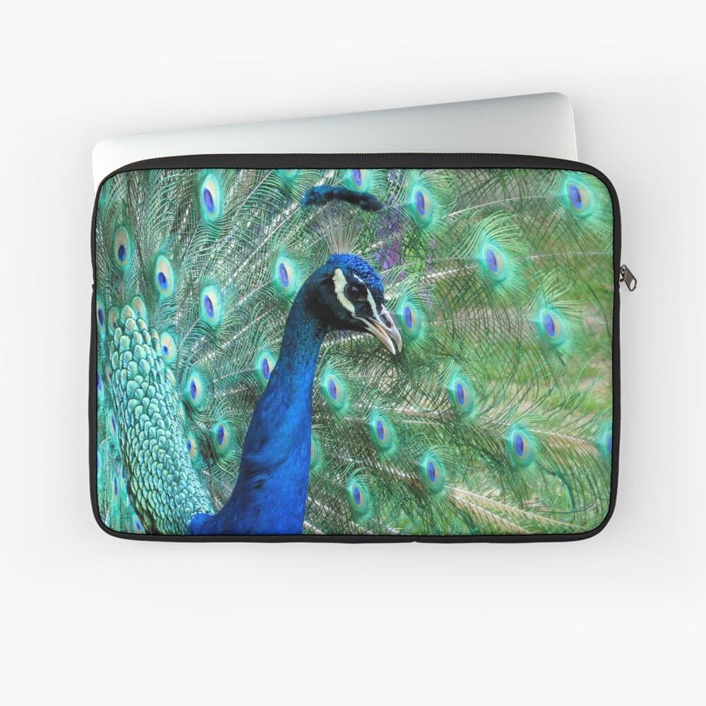 Peacock in bloom Laptop Sleeve
