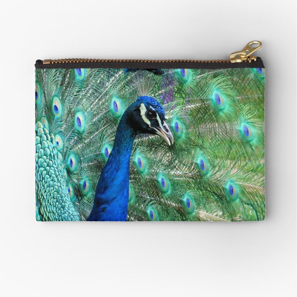 Peacock in bloom Zipper Pouch