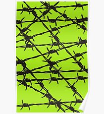 Barbed Wire [Lime Green] by Chillee Wilson Poster