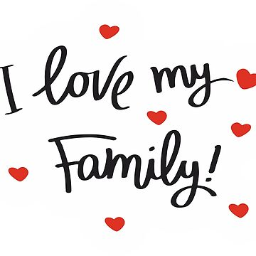 I Love My Family Contrast Tank By Alessiom Redbubble