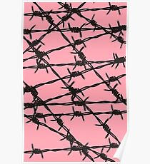 Barbed Wire [Pink] by Chillee Wilson Poster