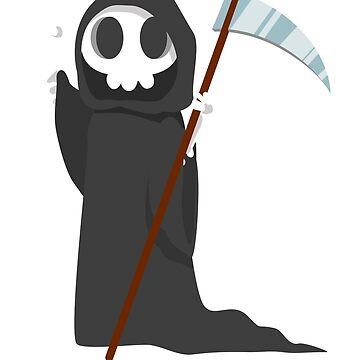 Grim Reaper Halloween- Skeleton Grim Reaper  T Shirt Halloween Costume  Funny Scary Gift by Girlscollar