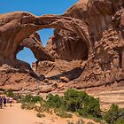 USA. Utah. Arches National Park. Pilgrimage to Double Arch. by vadim19