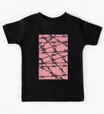 Barbed Wire [Pink] by Chillee Wilson Kinder T-Shirt