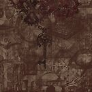 Steampunk - key and gears grunge by Anteia
