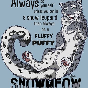 Always be snow leopard (black test) by EosFoxx