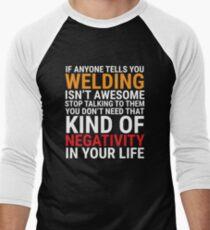 Funny Welder Welding Is Awesome T-shirt Men's Baseball ¾ T-Shirt