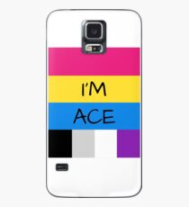 Panromantic Flag Asexual Flag Asexual I'm Ace T-Shirt Case/Skin for Samsung Galaxy
