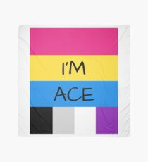 Panromantic Flag Asexual Flag Asexual I'm Ace T-Shirt Scarf