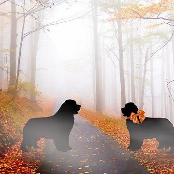 Newfie Love in Autumn by itsmechris