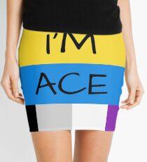 Panromantic Flag Asexual Flag Asexual I'm Ace T-Shirt Mini Skirt