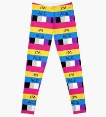 Panromantic Flag Asexual Flag Asexual I'm Ace T-Shirt Leggings