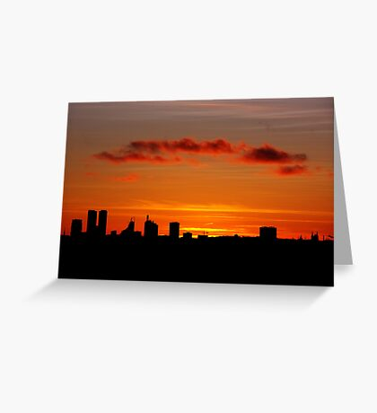 Hometown silhouettes. II Greeting Card