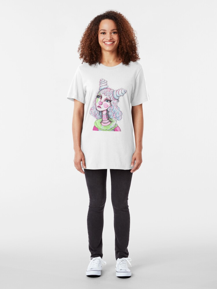 Alternate view of Sad Clown Girl Slim Fit T-Shirt
