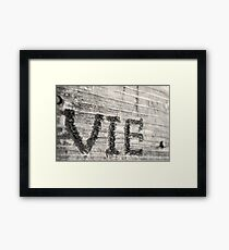 VIE Framed Print