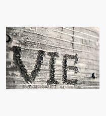 VIE Photographic Print
