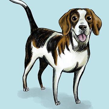 Cute Beagle dog illustration by Extreme-Fantasy