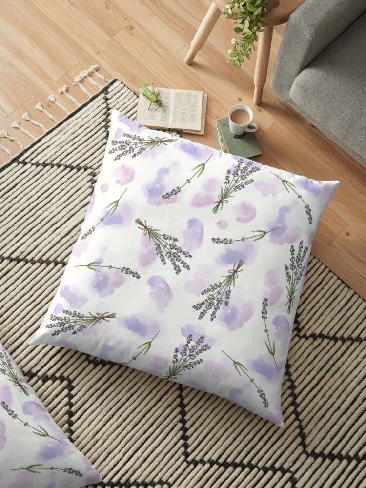Watercolour Lavender - repeat floral pattern by Hazel Fisher