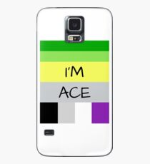 AROMANTIC FLAG ASEXUAL FLAG I'M ACE ASEXUAL T-SHIRT Case/Skin for Samsung Galaxy