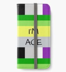 AROMANTIC FLAG ASEXUAL FLAG I'M ACE ASEXUAL T-SHIRT iPhone Wallet/Case/Skin