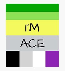 AROMANTIC FLAG ASEXUAL FLAG I'M ACE ASEXUAL T-SHIRT Photographic Print