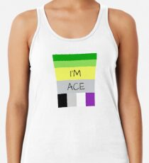 AROMANTIC FLAG ASEXUAL FLAG I'M ACE ASEXUAL T-SHIRT Women's Tank Top