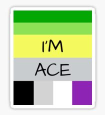 AROMANTIC FLAG ASEXUAL FLAG I'M ACE ASEXUAL T-SHIRT Sticker