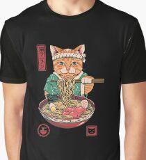 Neko Ramen Grafik T-Shirt