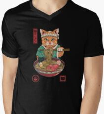 Neko Ramen Men's V-Neck T-Shirt