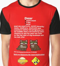 Steal My Paycheck Fat Cats Graphic T-Shirt