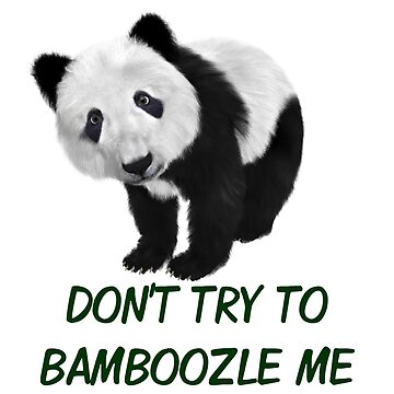 Don't Try To Bamboozle Me Panda Puns by ravishdesigns