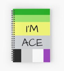 AROMANTIC FLAG ASEXUAL FLAG I'M ACE ASEXUAL T-SHIRT Spiral Notebook