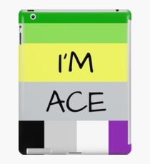 AROMANTIC FLAG ASEXUAL FLAG I'M ACE ASEXUAL T-SHIRT iPad Case/Skin