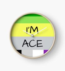 AROMANTIC FLAG ASEXUAL FLAG I'M ACE ASEXUAL T-SHIRT Clock