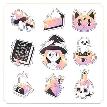 Witch Stickers by theoceanowl