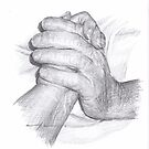 last holding hands drawing by Mike Theuer