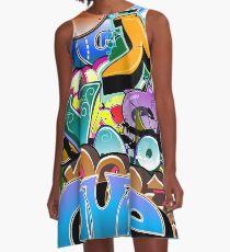 Graffiti  A-Line Dress