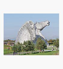The Kelpies, Helix Park, Falkirk Photographic Print