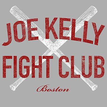 Vintage Distressed Red Tee Joe Kelly Fight Club Shirt for Boston Fans by DollarPrints