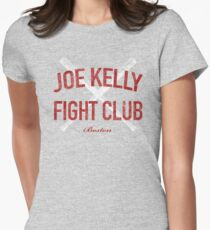 Vintage Distressed Red Tee Joe Kelly Fight Club Shirt for Boston Fans Women's Fitted T-Shirt