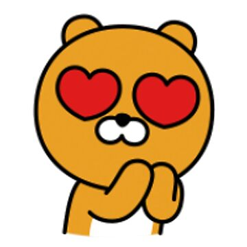 KakaoTalk Friends Hello! Ryan Heart Eyes (카카오톡 라이언) by icdeadpixels
