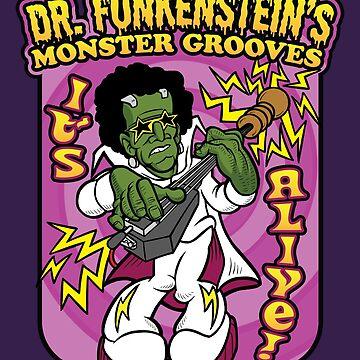 Dr. Funkenstein's Monster Grooves Bass Guitar Musician by bsanczel