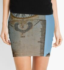 Old Church Clock Tower Mini Skirt