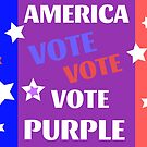America Vote Purple Heal Our Country Sticker or Mug by TheKitch